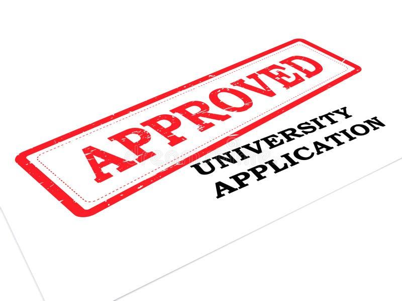University application approved vector illustration