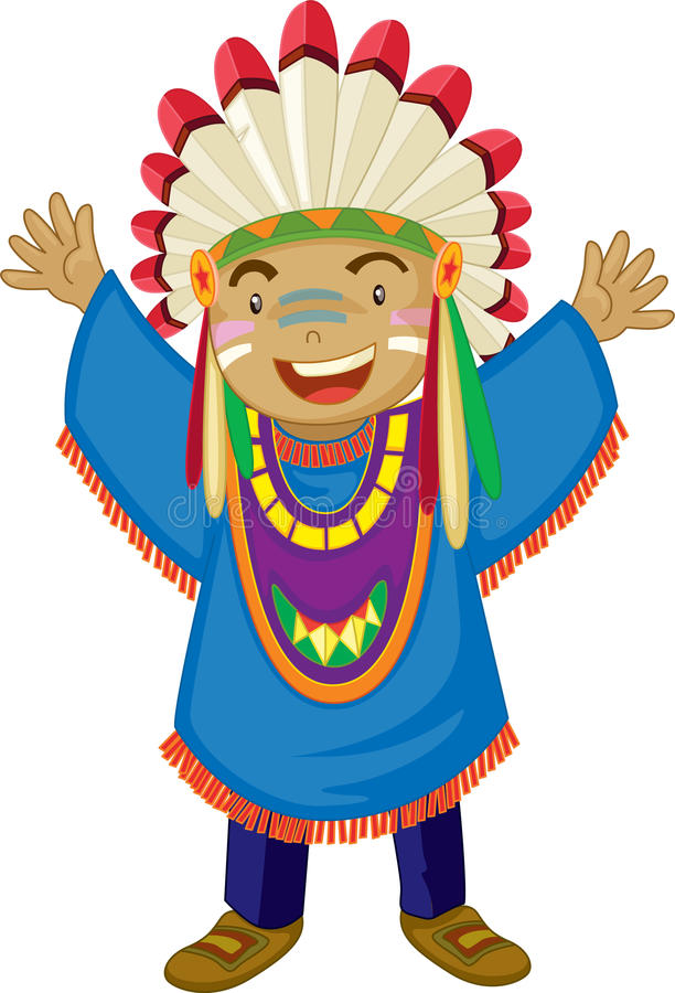 Red indian stock illustration