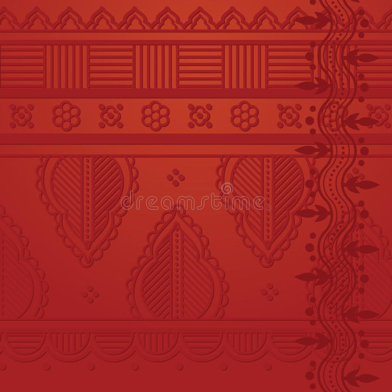 Red indian background royalty free illustration