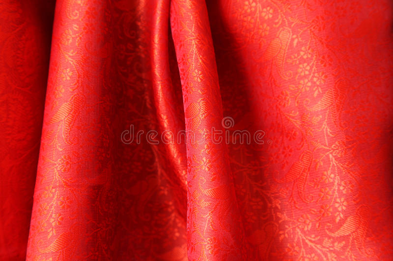 Download Red Indian Silk stock image. Image of texture, traditional - 14859129