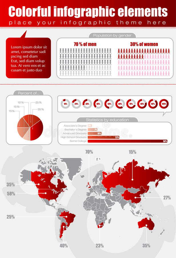 Download Red infographic stock vector. Image of icon, symbol, market - 23099630