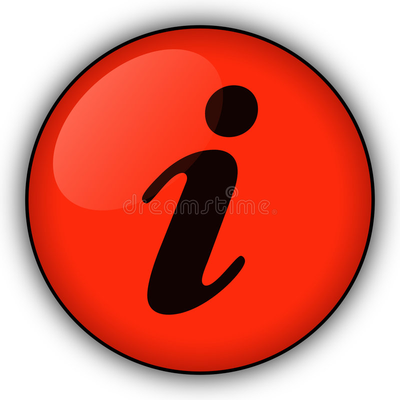 Red information button stock images