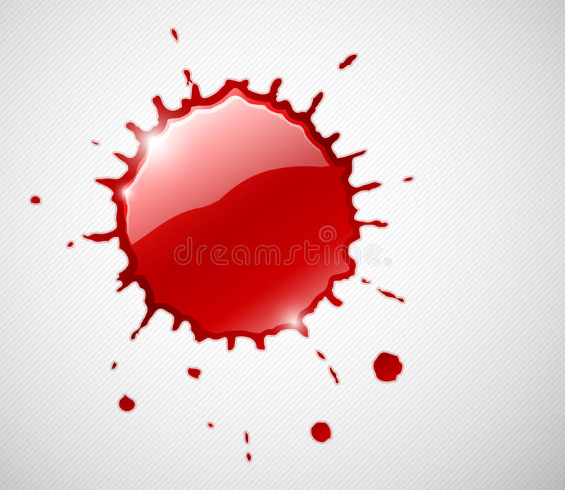 Red ink blob splash stock illustration