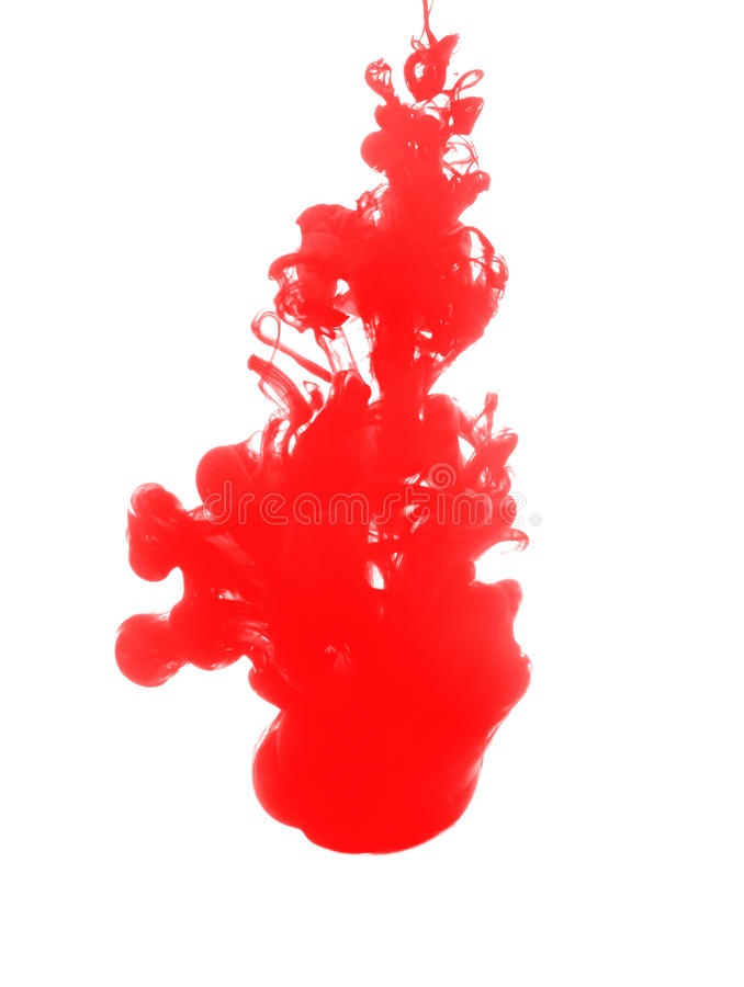 Free Red Ink Drop In Water Isolated Stock Image - 40579371