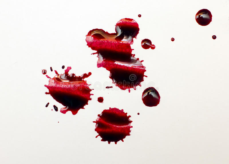 Red ink royalty free stock photo