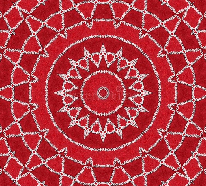 Red Inspiration Mandala royalty free stock photography