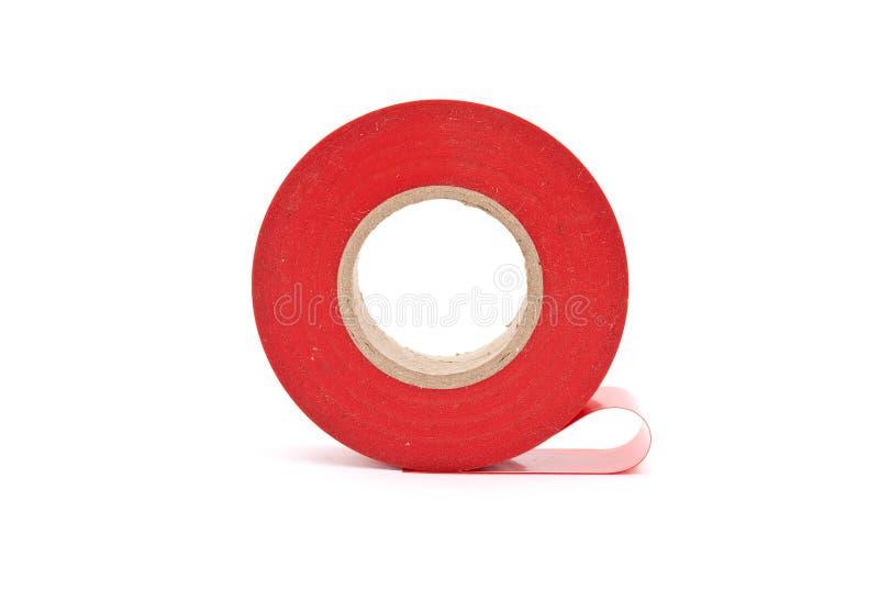 Red insulating tape stock photo