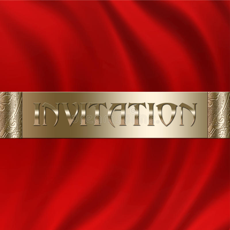 Red Invitation stock photography