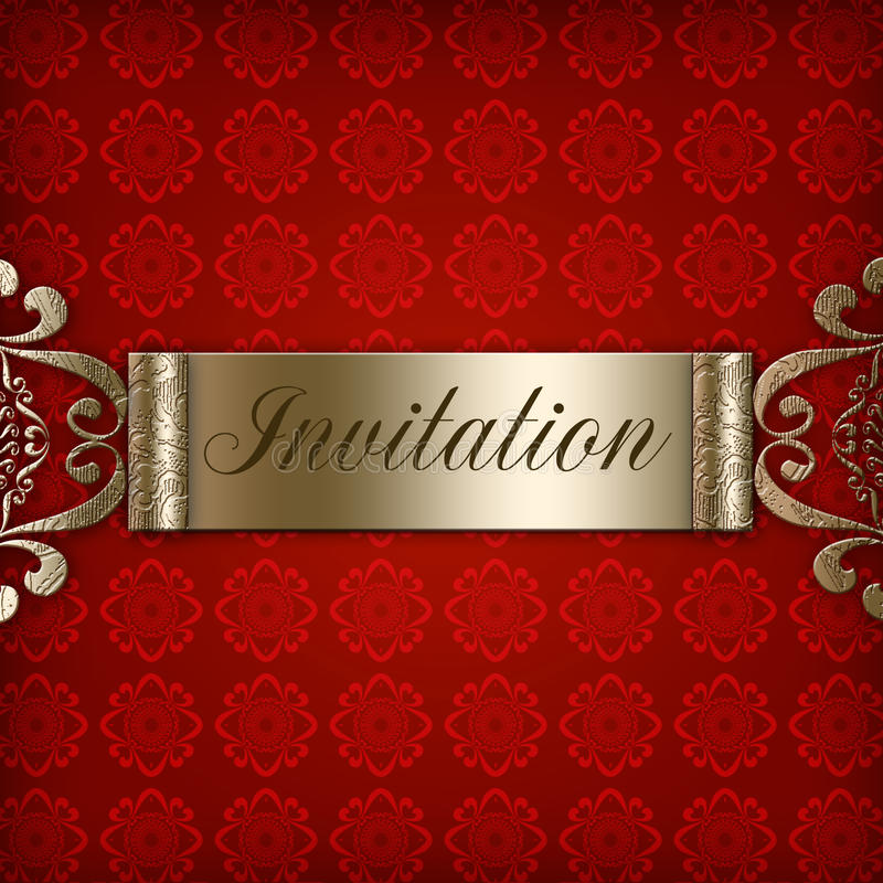 Download Red Invitation stock illustration. Image of textured - 14852006