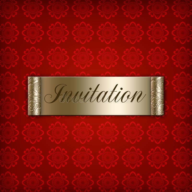 Red Invitation royalty free stock photos