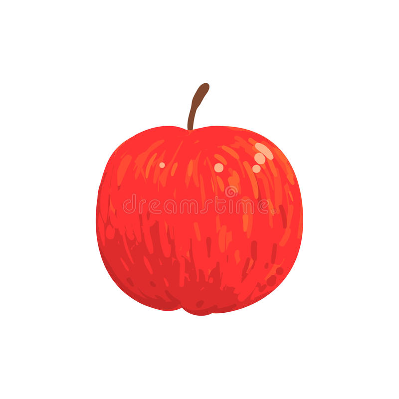 Free Red Isolated Apple Funky Hand Drawn Fresh Fruit Cartoon Illustration Royalty Free Stock Photography - 83478257