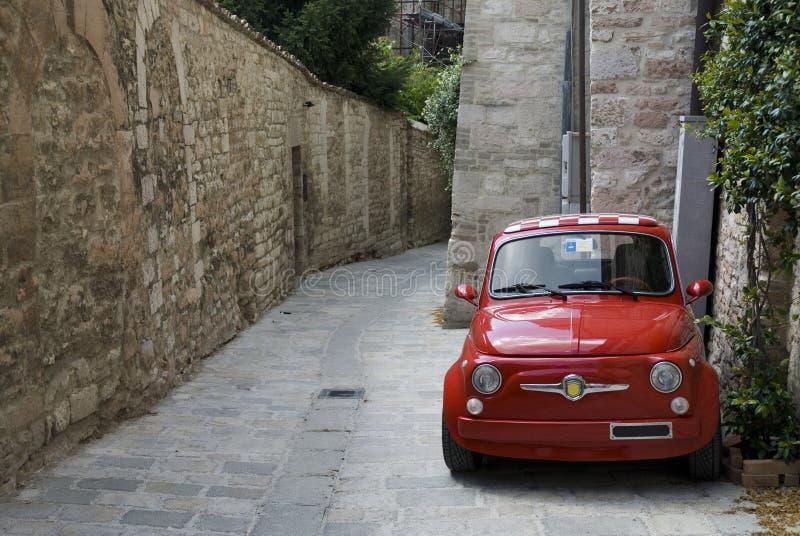 Red Italian car royalty free stock photography