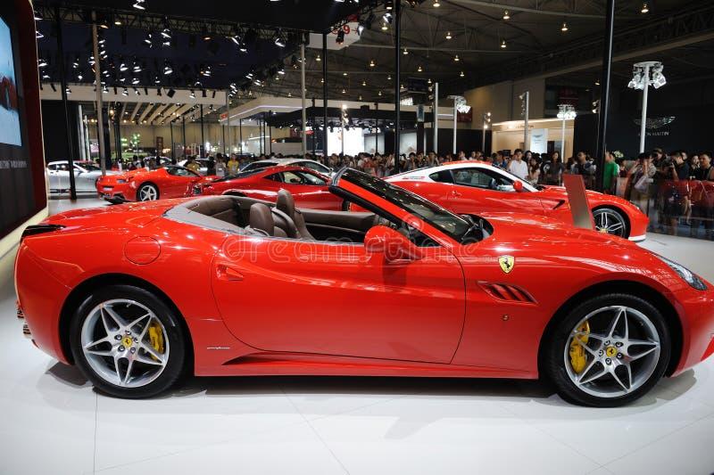 Red Italy Ferrari pavilion royalty free stock photos