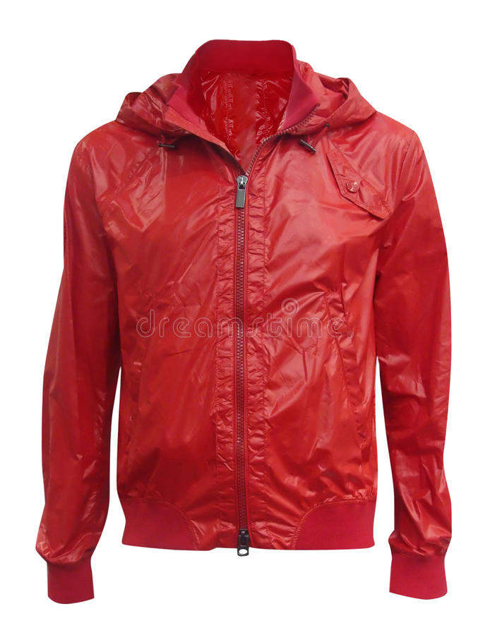Red jacket. Isolated on white stock photo