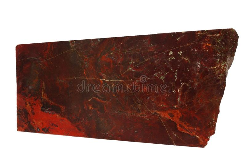Red jasper mineral isolated royalty free stock photos