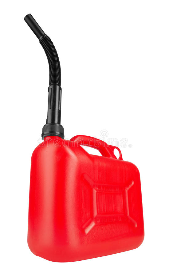 Download Red jerrycan stock image. Image of handle, spout, gasoline - 27649059