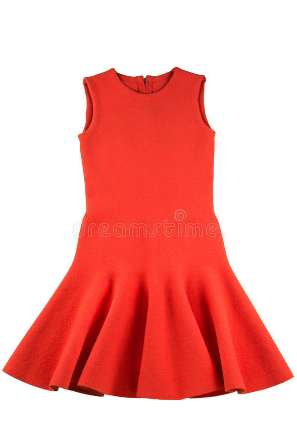 Red jersey dress isolated royalty free stock image
