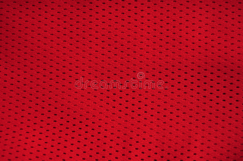 red jersey texture stock image