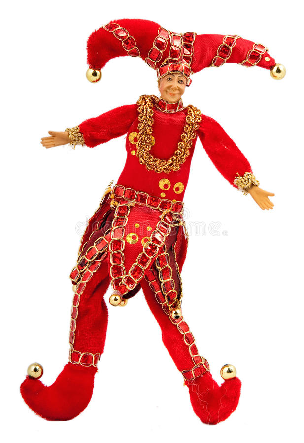 Red Joker Doll Royalty Free Stock Images