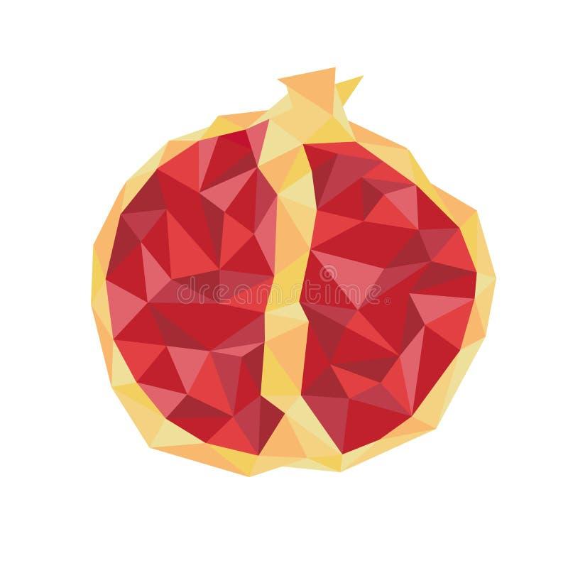 Red juicy ruby garnet. Fruits by season. Red juicy ruby garnet. Fruits by season royalty free illustration