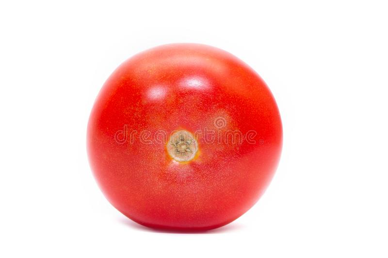 Red juicy tomato isolated on white background. royalty free stock photography