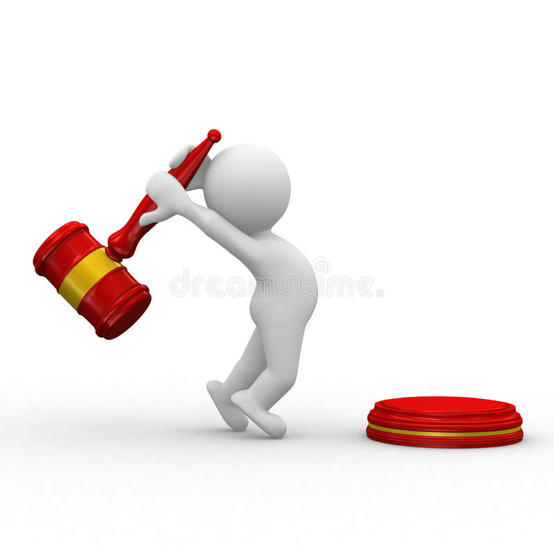 Free Red Justice Hammer Stock Photo - 11595830