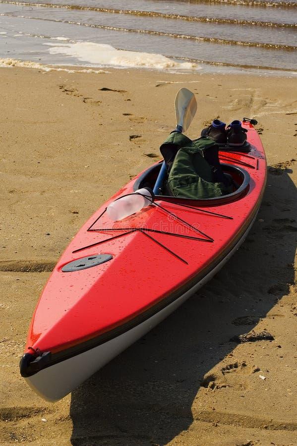 Red Kayak stock image