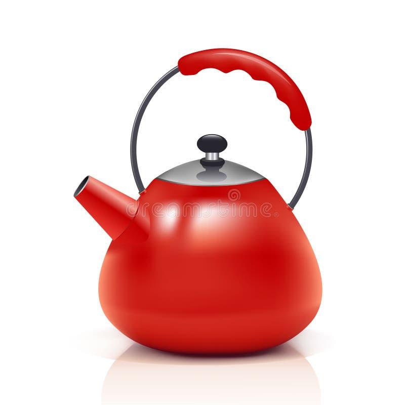 Red kettle stock illustration