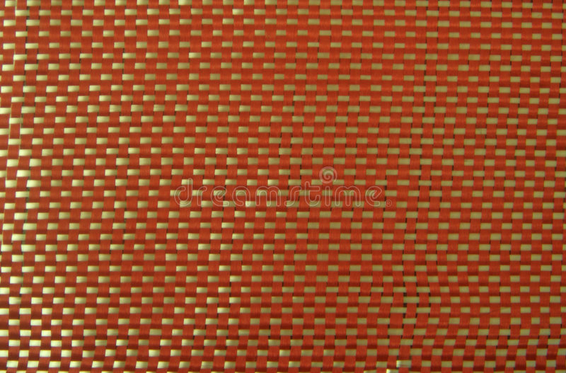 Red kevlar with white fiberglass. In it stock image