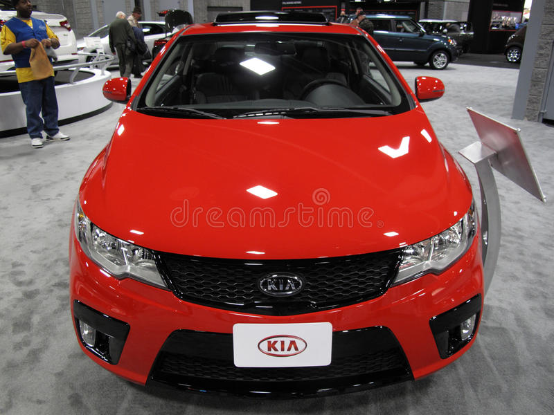 Download Red Kia Auto editorial photography. Image of center, convention - 18112742