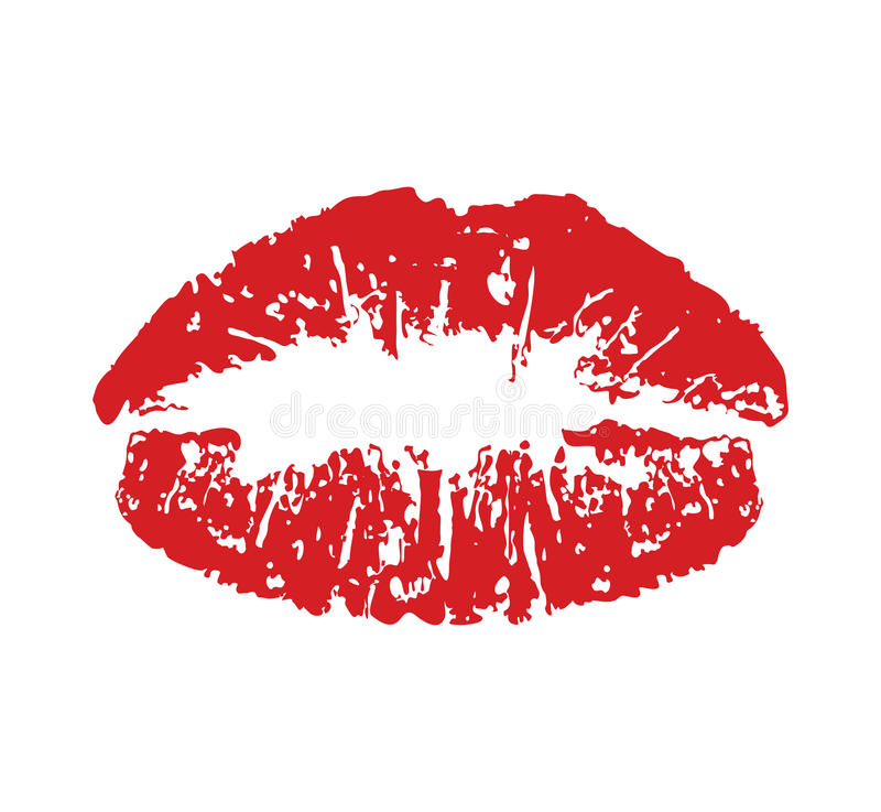 Download Red kiss print stock vector. Image of pattern, fashion - 32850162