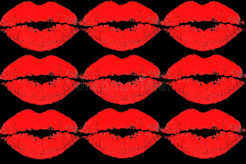 Download Red kissing lips stock illustration. Illustration of creative - 4870381