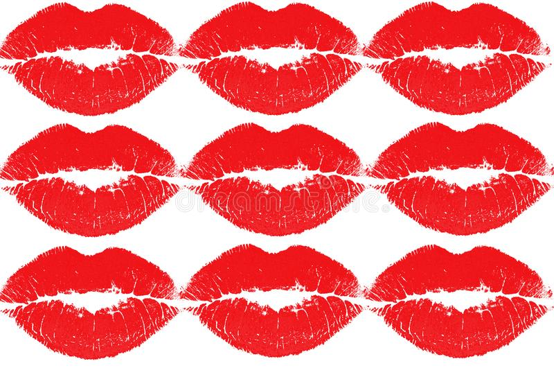 Red kissing lips royalty free stock photo