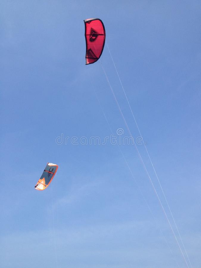 Red kite on the sky. royalty free stock photo
