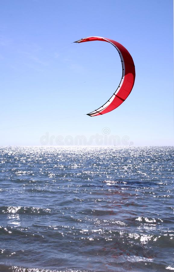 Download Red Kite Surfer Sail stock photo. Image of ocean, surfer - 11539780