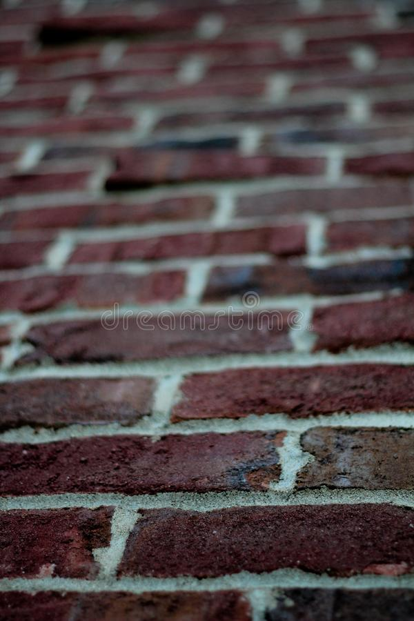Red Klinker Brick - Close up / Blur royalty free stock image