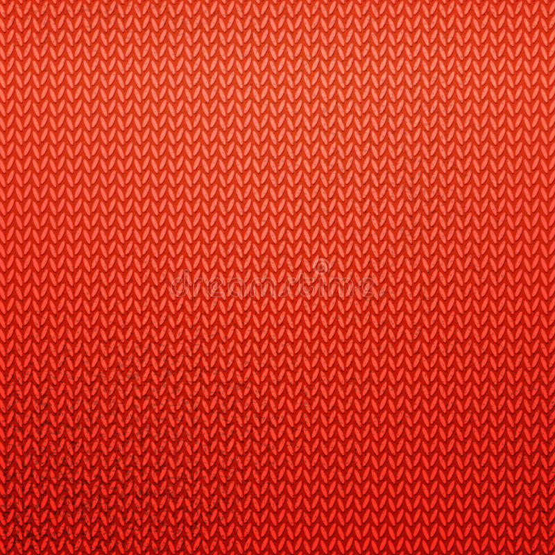 Red Knitted Pattern Stock Vector Illustration Of Design 63966419