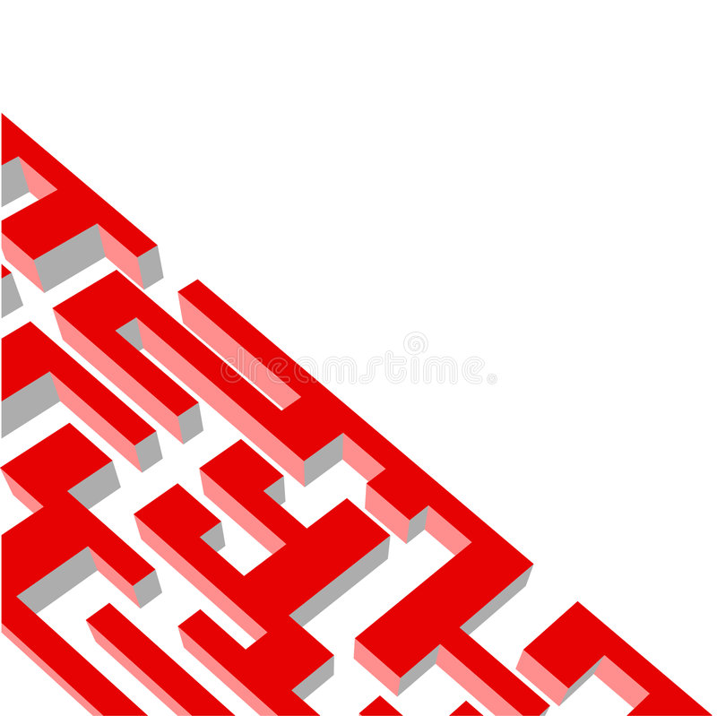 Download Red labyrinth stock vector. Image of help, clue, destination - 9120231