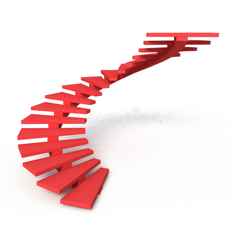 Download Red ladder stock illustration. Image of objects, winner - 14002093