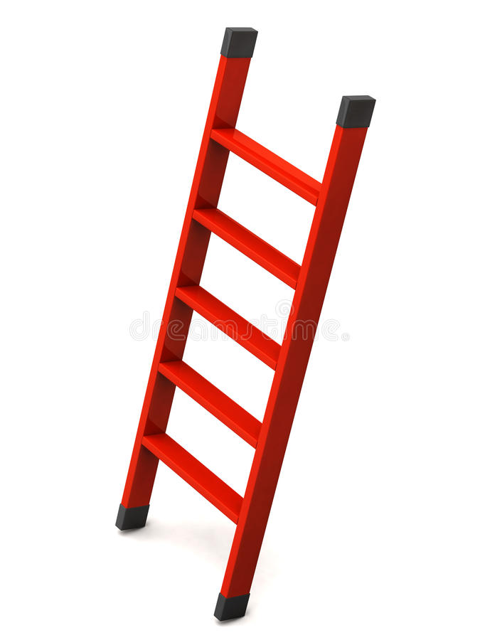 Red ladder. Isolated on white background royalty free illustration