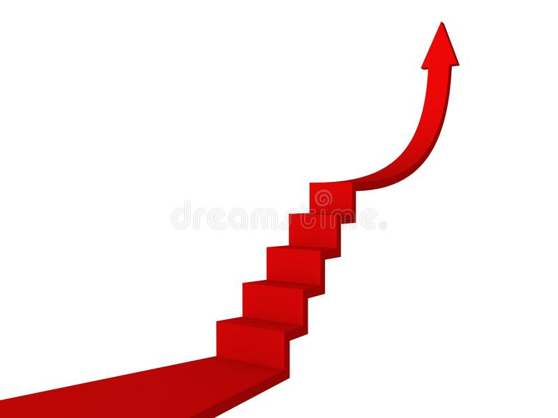 Download Red Ladder To Success Arrow. Business Concept Stock Photo - Image: 22832344