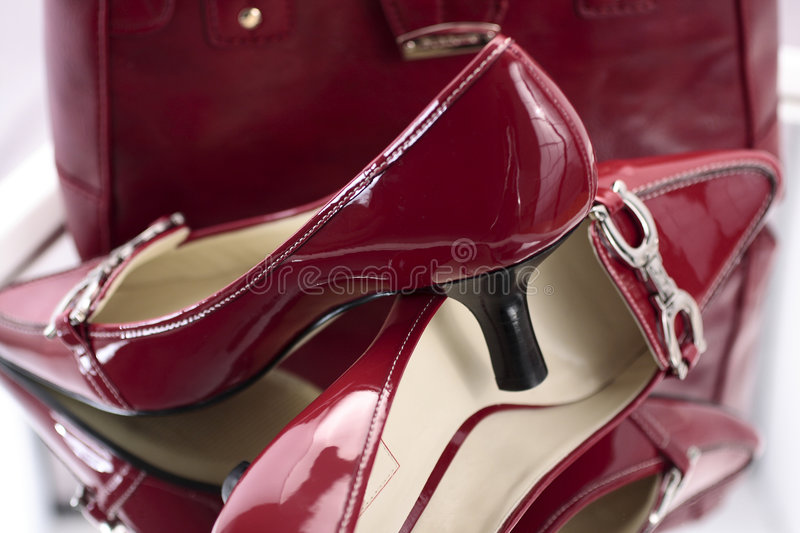 Download Red Ladies High Heel Shoes stock photo. Image of pumps - 3801580