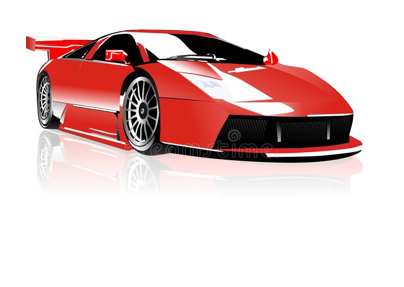 Red lamborghini royalty free illustration