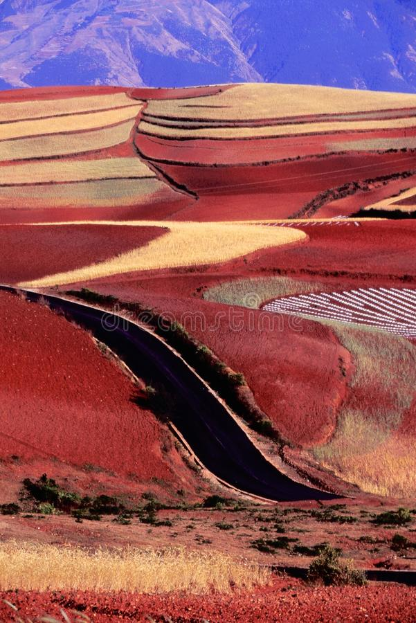 Download Red Land stock photo. Image of line, mountains, colorful - 26967224