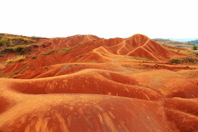 Red land in Guangdong , China. Shixing Red Land located in Shixing county Shaoguan city Guangdong province , China photo taken on Jan, 2015 royalty free stock photos