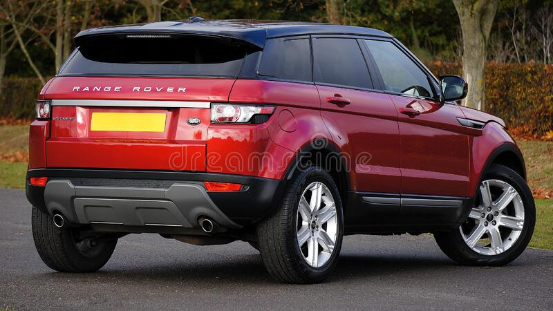 Red Land Rover Range Rover Free Public Domain Cc0 Image