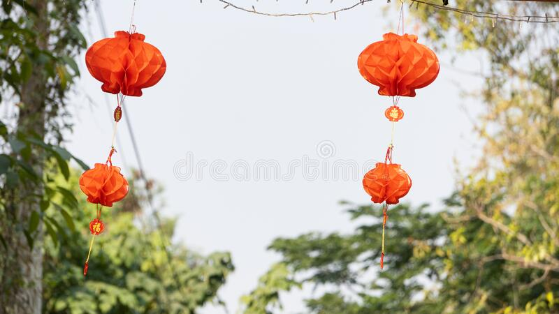 Red lantern Chinese lantern hanging Chinese new year royalty free stock photo