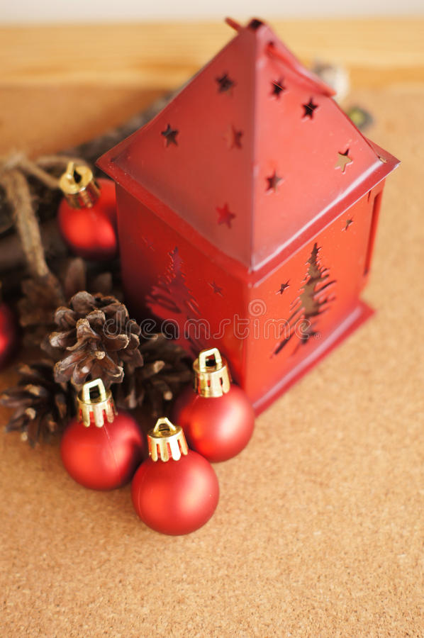 Download Red Lantern And Christmas Balls Stock Photo - Image: 33839020