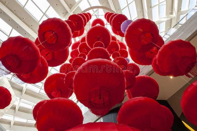 Red Lantern. S are a symbol of Chinese festivity. Photos taken in 2017 Chinese Lunar New Year royalty free stock photo