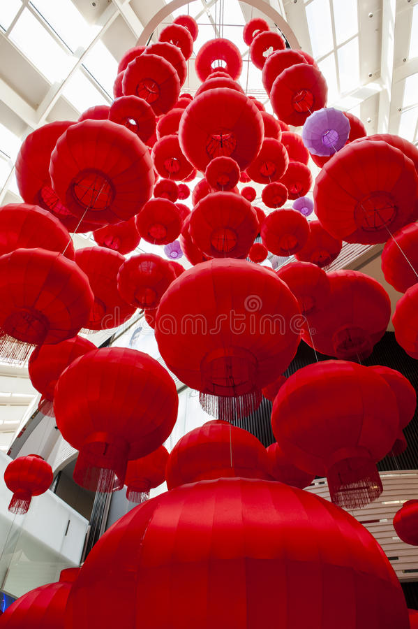 Red Lantern. S are a symbol of Chinese festivity. Photos taken in 2017 Chinese Lunar New Year stock images
